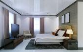 Slaapkamer avant-gardistische stijl — Stockfoto