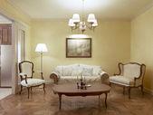 Классический стиль гостиной — Стоковое фото