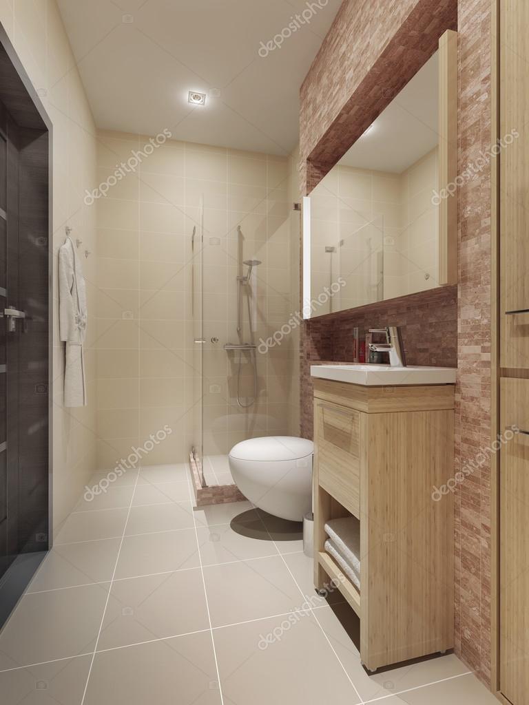 zeitgenössischen stil badezimmer interieur — stockfoto © kuprin33, Hause ideen