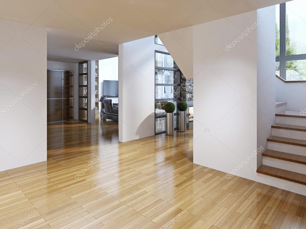 Ljusa moderna korridor med trappor — stockfotografi © kuprin33 ...