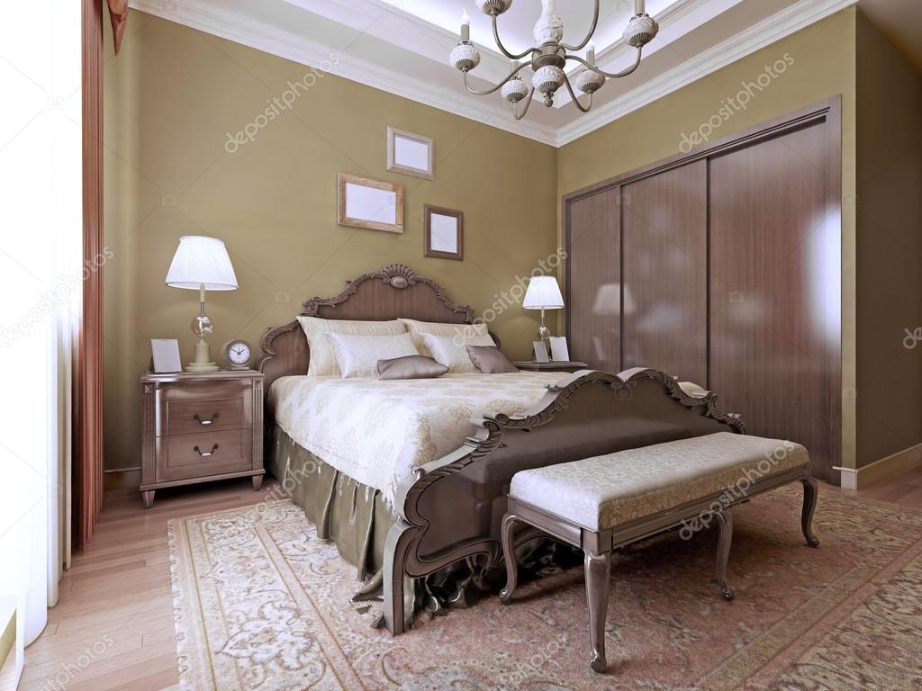 Luxe slaapkamer Engelse stijl — Stockfoto © kuprin33 #83412850