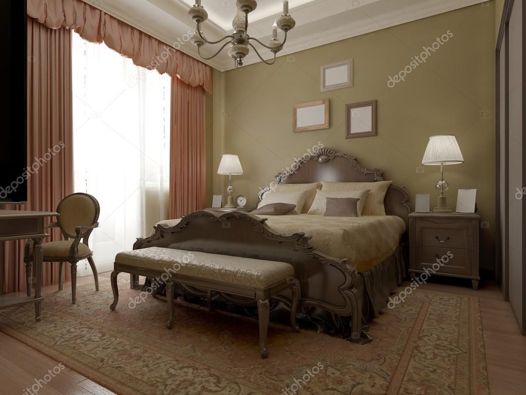 Vintage klassiska sovrum inredning — stockfotografi © kuprin33 ...
