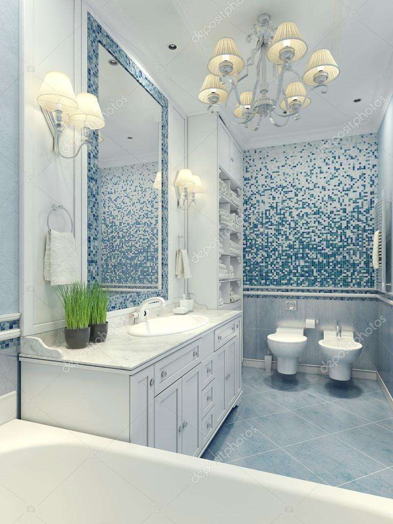 Stile classico bagno luminoso — Foto Stock © kuprin33 #83413334