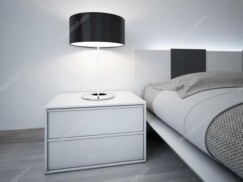 Moderna monokrom sovrum design — stockfotografi © kuprin33 #83414184