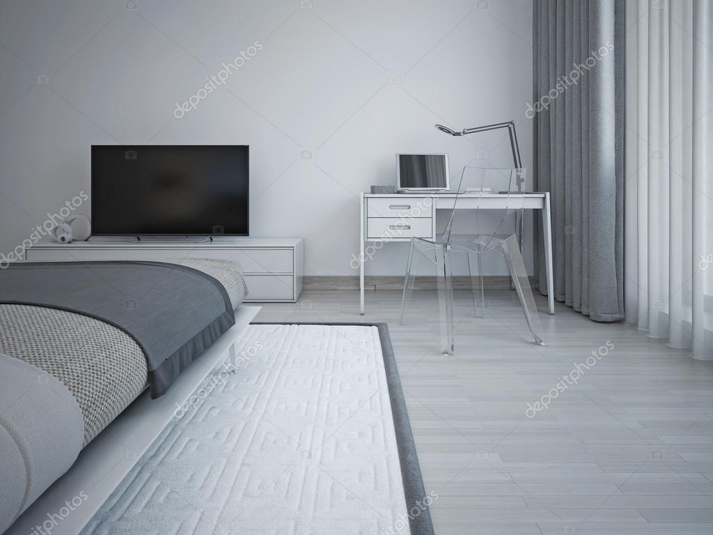 Sovrum inredning i minimalistisk stil — stockfotografi © kuprin33 ...