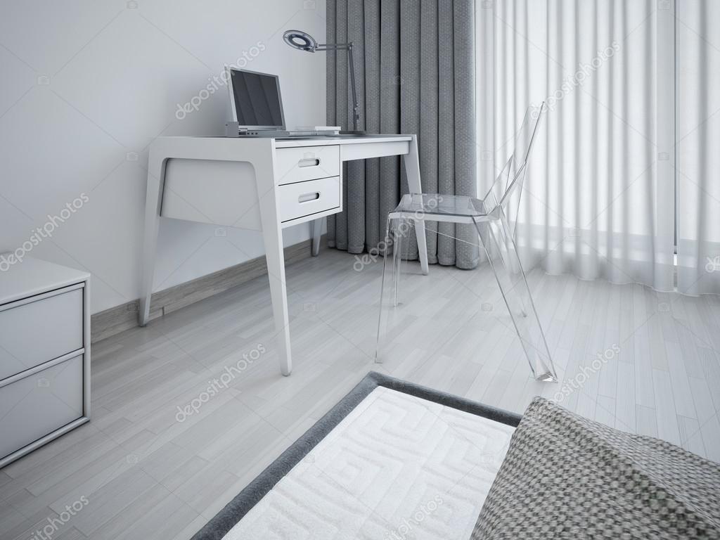werkgebied in minimalistische slaapkamer  stockfoto © kuprin, Meubels Ideeën