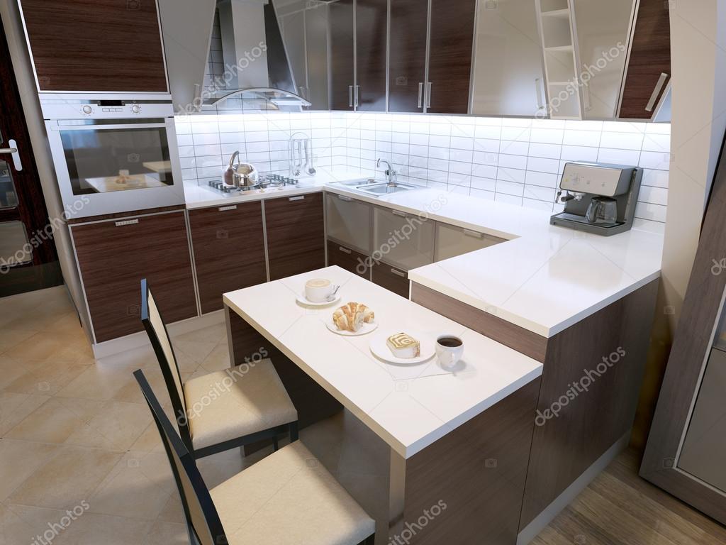 Moderne zebrano keukenontwerp — stockfoto © kuprin33 #83419122