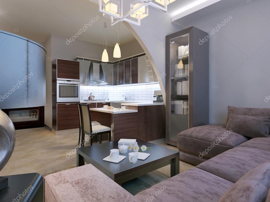 Interni moderni del soggiorno studio — Foto Stock © kuprin33 #83419234