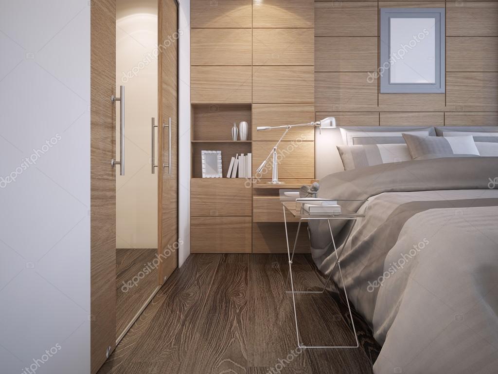 Mooie slaapkamer ontwerp — Stockfoto © kuprin33 #83419384