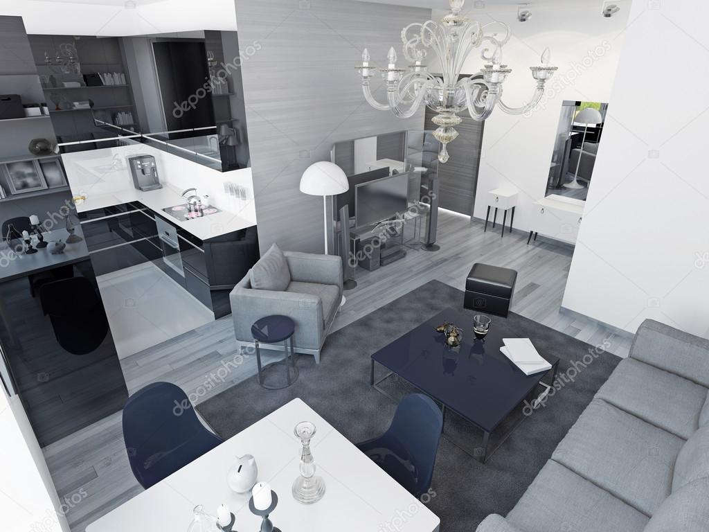 Zwart witte keuken welke muur kleur - Deco keuken kleur ...