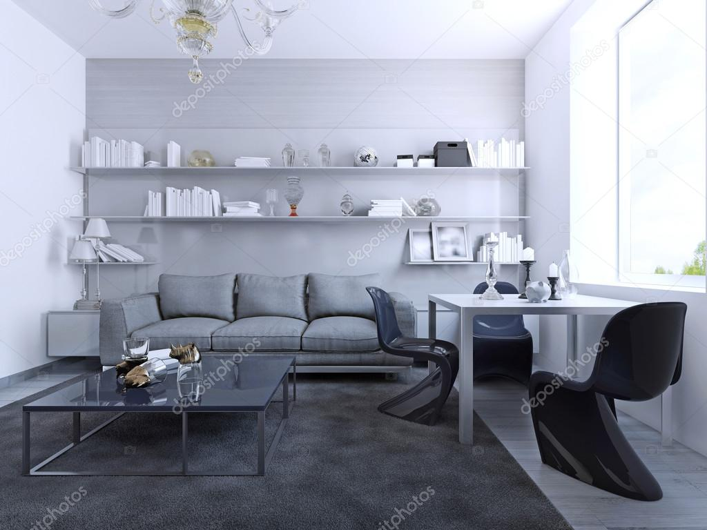 Visa av vardagsrum med matbord — stockfotografi © kuprin33 #83426824