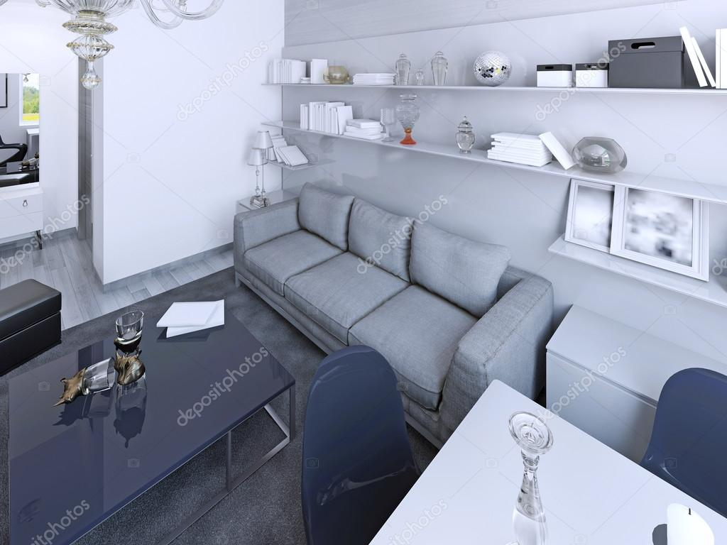 Vita vardagsrum modern stil — stockfotografi © kuprin33 #83426842