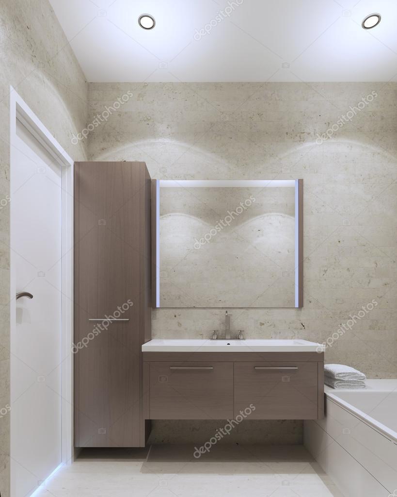 Minimalistische badkamer interieur — stockfoto © kuprin33 #83430762