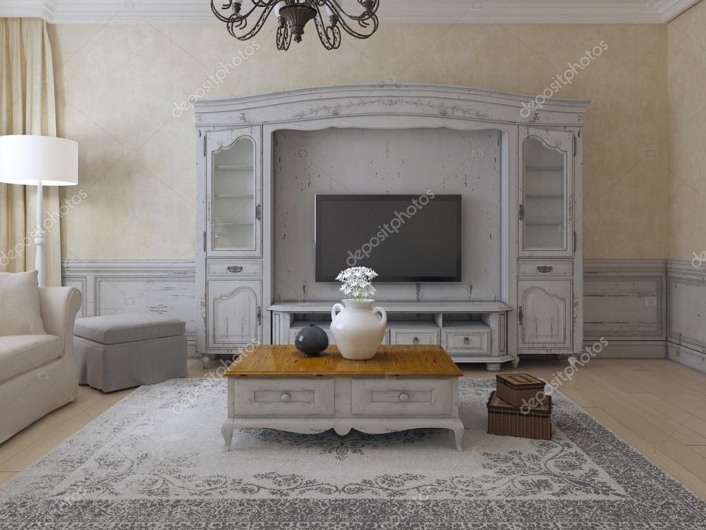 Lyxiga vardagsrum provence stil — stockfotografi © kuprin33 #87649166