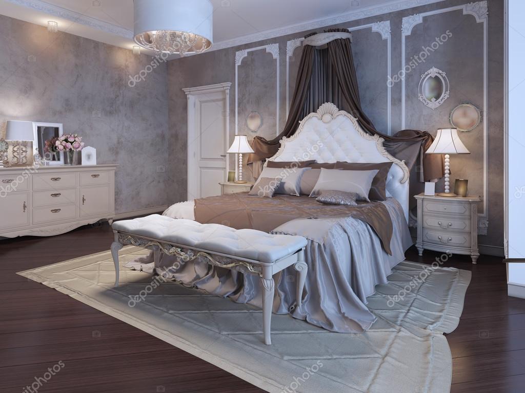 Scarica - Master camera da letto stile bohemien in colori marrone. 3d ...