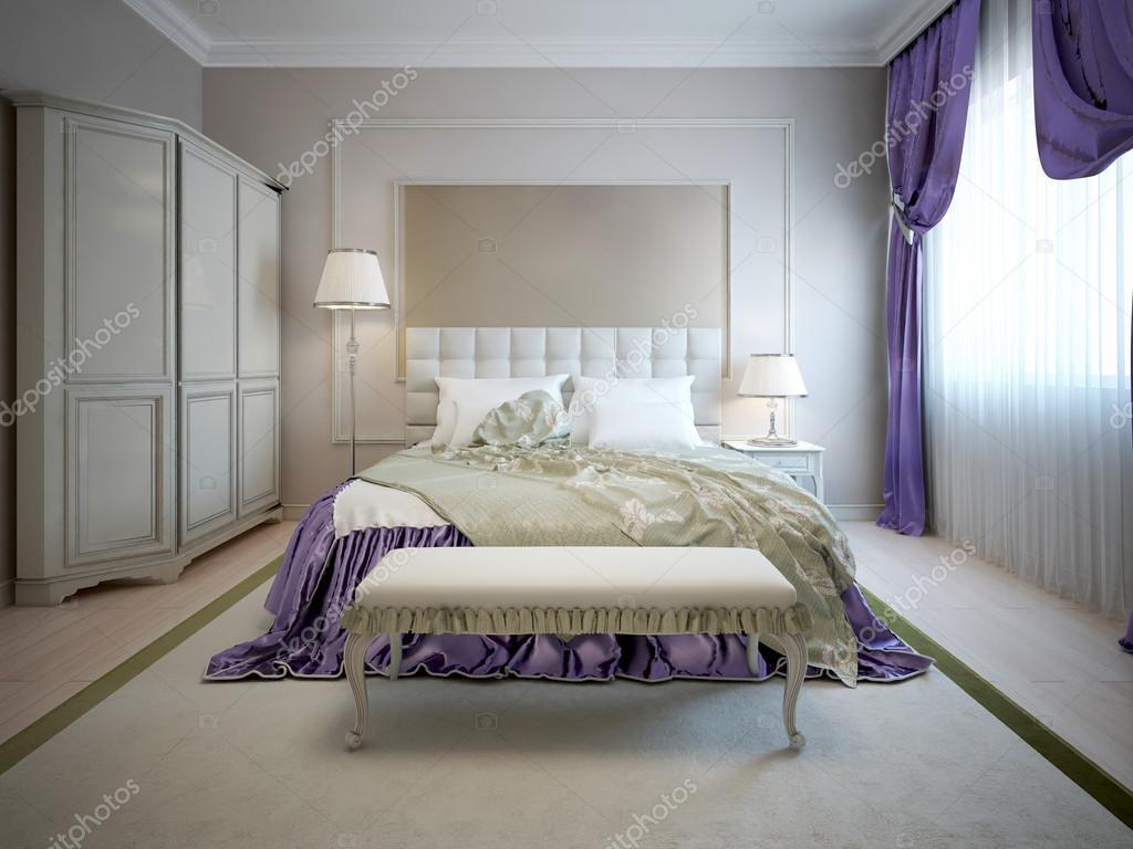 Lyxig interiör i art déco sovrum — stockfotografi © kuprin33 #87650520