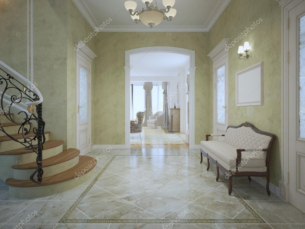 Ljusa dyra korridor med trappor — stockfotografi © kuprin33 #87650702
