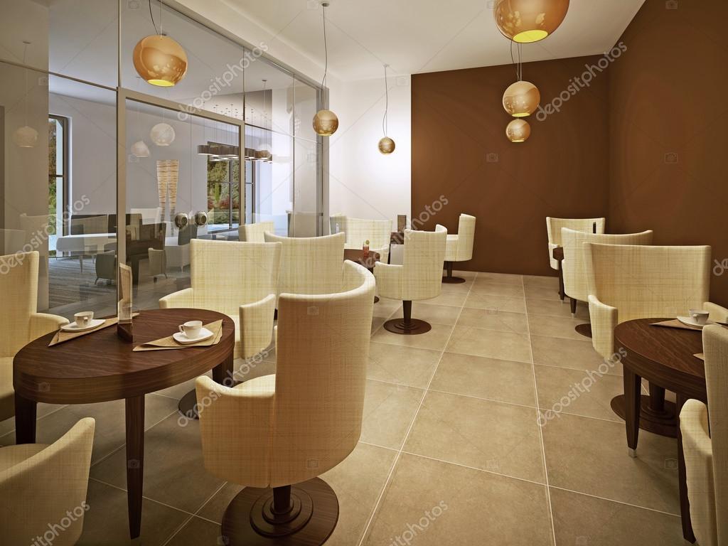 Sala da pranzo con pareti color crema — Foto Stock © lmphot #12153959