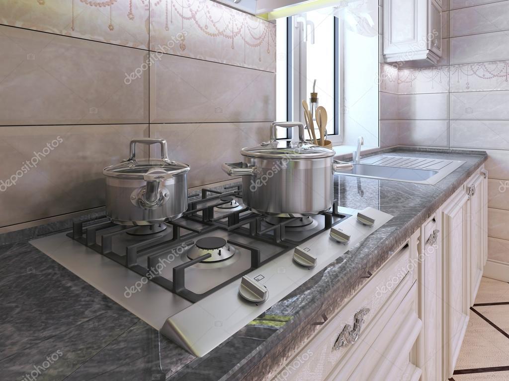 Werkgebied op moderne keuken — stockfoto © kuprin33 #94666184
