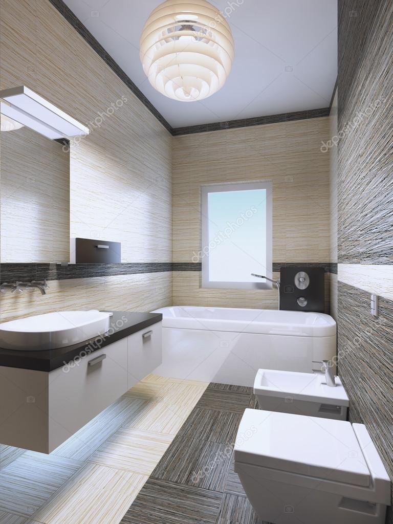 Ljusa dyra badrum med neonljus — Stockfotografi © kuprin33 #95343344