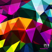 Abstract triangular background on bright colors. — Stock Vector