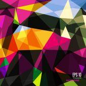Abstraktní trojúhelníkové pozadí na světlé barvy. — Stockvektor