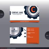 Abstract creative business card.  Vector. — Stockvector