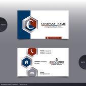 Abstract creative business card.  Vector. — Vecteur