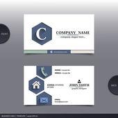 Abstract creative business card.  Vector. — Stock Vector