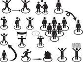 Pictogram people activities — Stockvector