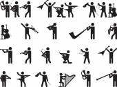 Pictogram people singing — Wektor stockowy