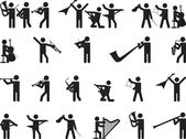 Pictogram people singing — ストックベクタ