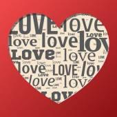 Love love card — Stock Vector