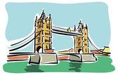 London, Tower bridge — Stock Vector