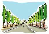 Paris, Champs Elysees — Stock Vector