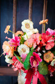 Beautiful flowers in vintage style — Стоковое фото