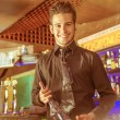 Happy barman at work — Stock Photo #55011963
