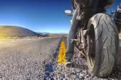 Road and desert — Stock Photo