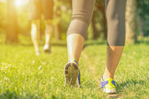 Runners on the path — Stock Photo