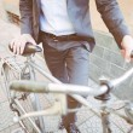 człowiek biznesu i rowerów — Zdjęcie stockowe #58791843