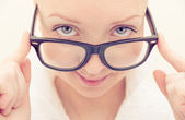 Pretty woman with classy glasses — Stock Photo