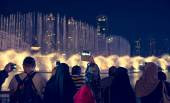 Fountain show in dubai — Stock Photo