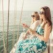 Two friends on a cruise — Stock Photo #71461525