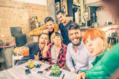 Selfie in a bar — Stock Photo