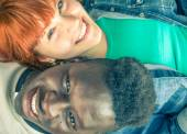 Mixed race couple. — Stock Photo