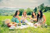 Women at picnic — 图库照片