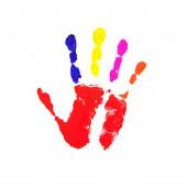 Odcisk dłoni — Zdjęcie stockowe
