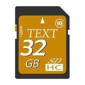 Vector memory cards — Stock Vector