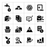 Set icons of investment and finance — Stock Vector
