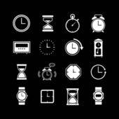 Set iconos del reloj — Vector de stock